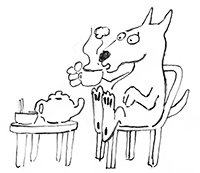 tea-sipping-dog