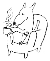 tea-stirring-dog