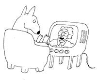 tv-kigger-hund