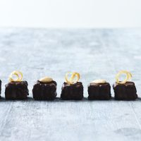 Chocolate treats with organic orange swirls